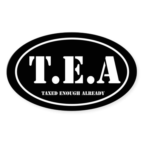 Tea party oval Tea party Oval Sticker 10 pk by CafePress