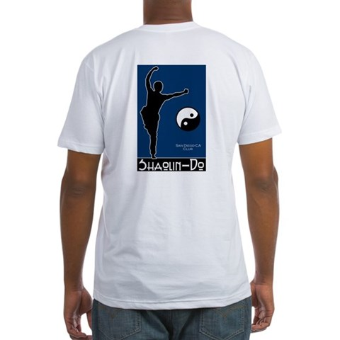- Front/Back Design  Fitted T-Shirt by CafePress