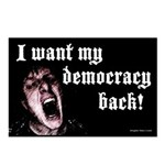 Want Democracy Back Postcards (8)