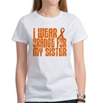 I Wear Orange For My Sister LEUKEMIA Tees