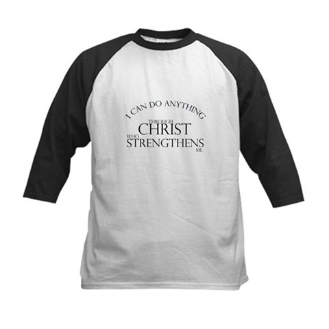 I can do anything God Kids Baseball Jersey by CafePress