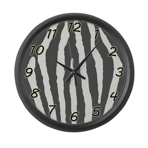Zebra Large Wall Clock by CafePress