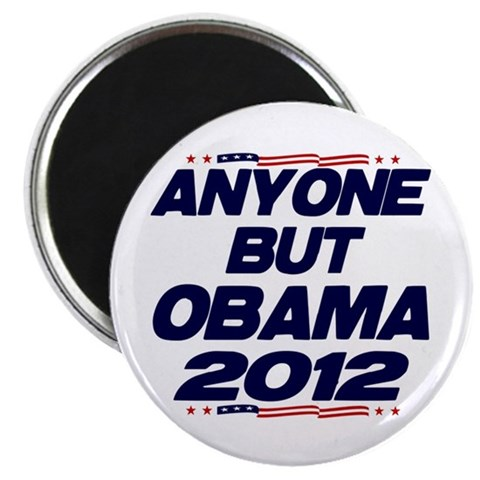 Anyone But Obama 2.25quot; Magnet 100 pack Political 2.25 Magnet 100 pack by CafePress
