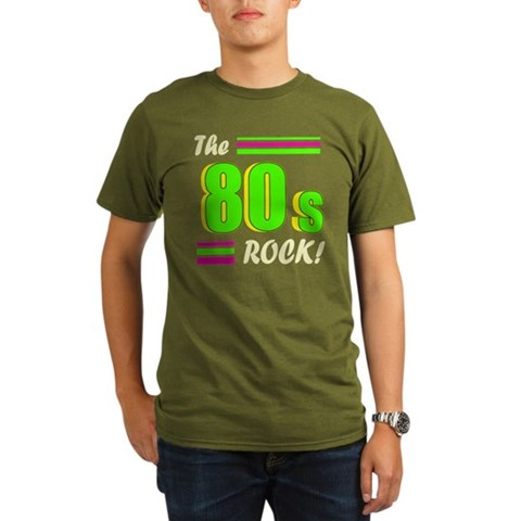 'The 80s Rock'  Vintage Organic Men's T-Shirt dark by CafePress