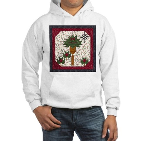Christmas Palm Tree Christmas Hooded Sweatshirt by CafePress