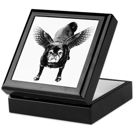 Pug Angel Jewelry Box