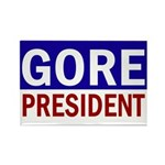 Al Gore: President! Rectangle Magnet (100 pack)