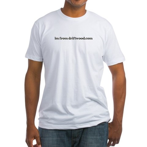- Brown logo  Fitted T-Shirt by CafePress