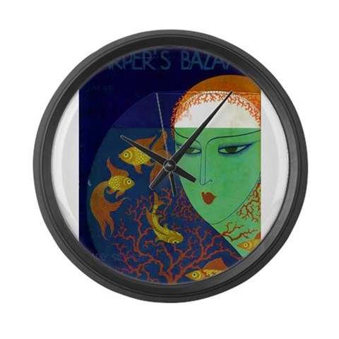 Asian  Vintage Large Wall Clock by CafePress