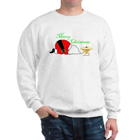 Merry Christmas Happy Birthday Jesus Xmas Sweatshirt by CafePress