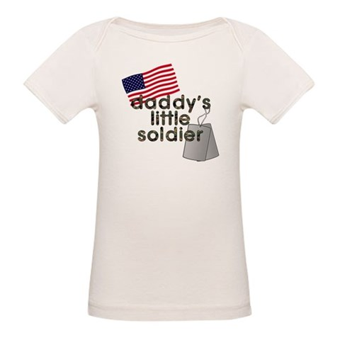 Daddy's Little Soldier  Military Organic Baby T-Shirt by CafePress