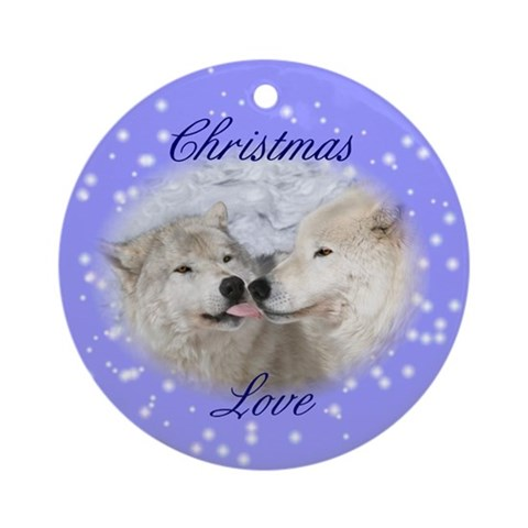 Christmas Kisses Ornament Holiday Round Ornament by CafePress