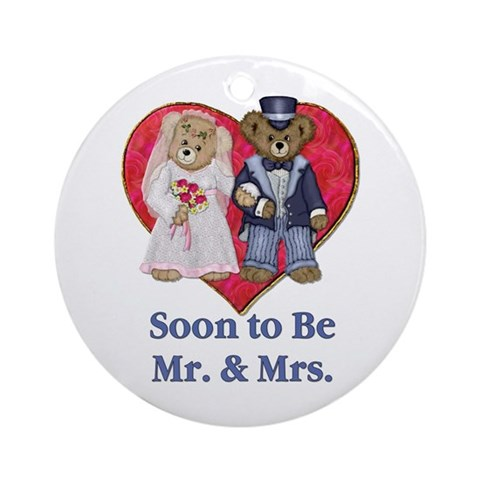 Wedding Bears Ornament Round Cute Round Ornament by CafePress