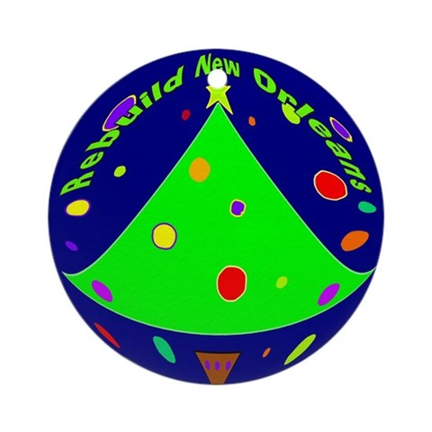 Rebuild New Orleans Art Ornament 1 Christmas Round Ornament by CafePress
