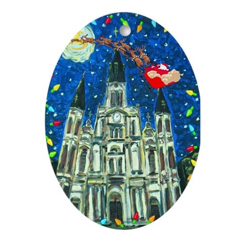 New Orleans Art Christmas Oval Ornament by CafePress