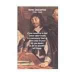 Philosopher: Rene Descartes Mini Poster Print