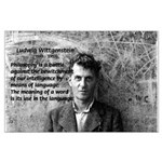 Ludwig Wittgenstein Large Poster