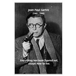 Existentialist Jean-Paul Sartre Big Poster Print. Philosophy, Science, Art, Music, Nature, Political, Propaganda, War Posters with Pictures & Quotes