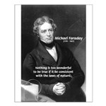 Michael Faraday Small Poster