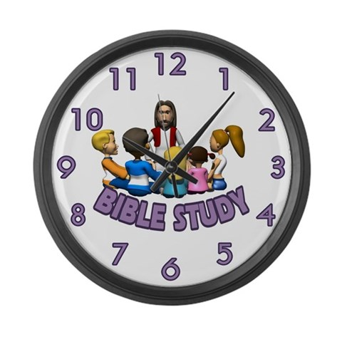 Bible Study  Funny Large Wall Clock by CafePress