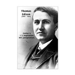 Thomas Edison: Genius Mini Poster Print