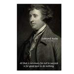 Edmund Burke: Good & Evil Postcards