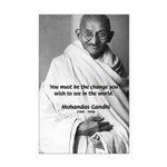 Loyalty to Cause: Gandhi Mini Poster Print