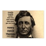 Henry David Thoreau Postcards