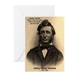 Henry David Thoreau Greeting Cards (Package of 6)