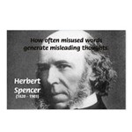 Evolutionist Herbert Spencer Postcards