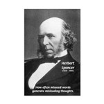 Evolutionist Herbert Spencer Mini Poster Print