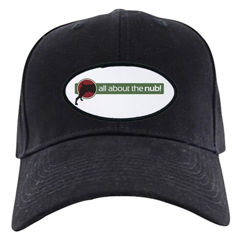 - all about the nub Pets Black Cap by CafePress