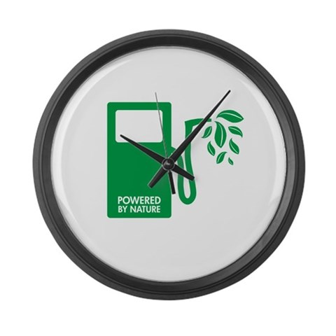 Biofuel Ethanol Green  Earth day Large Wall Clock by CafePress