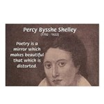 Romantic Poet Percy Shelley Postcards
