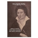Romantic Poet Percy Shelley Large Poster