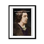 Playwright: Oscar Wilde Framed Panel Print