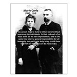 Marie Curie Better World Small Poster