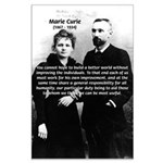 Marie Curie Better World Large Poster