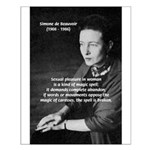 Simone De Beauvoir Small Poster