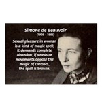 Simone De Beauvoir Postcards