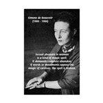 Simone De Beauvoir Mini Poster Print
