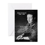 Simone De Beauvoir Greeting Cards (Package of 6)