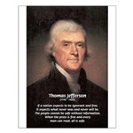 Media Thomas Jefferson Small Poster