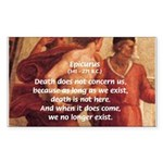 Death Nihilism Epicurus Sticker (Rectangular)