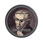 Universal Law: Kant Wall Clock