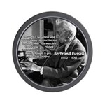 Philosophy Bertrand Russell Wall Clock