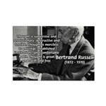 Philosophy Bertrand Russell Rectangle Magnet