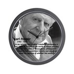 Open Society: Karl Popper Wall Clock