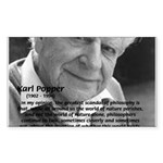 Open Society: Karl Popper Sticker (Rectangular)