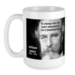 William James Life and Change Large Mug